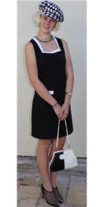 1960s black & white dress