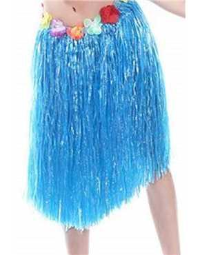 blue hula skirt
