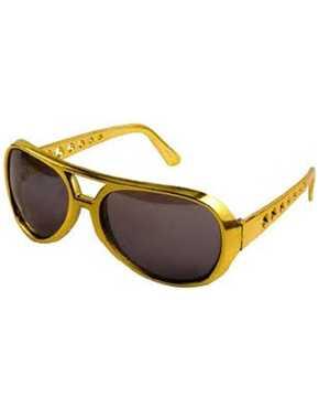 Elvis glasses gold frame