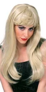 blonde long glamour wig