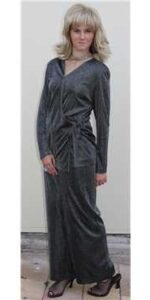1980s silver lurex evening pants suit