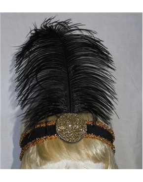 1920 headband gold black