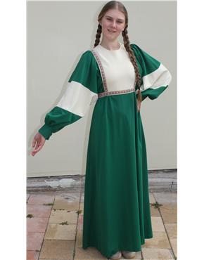 1970's Green/Beige Dress