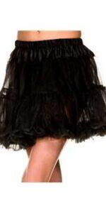 Petticoat Ruffle Trim Tulle Black
