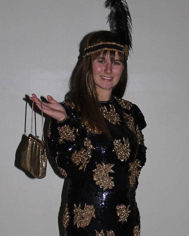 1920's Black & Gold Sequined Dress Set