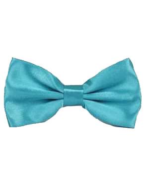 Bowtie Turquoise Satin