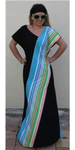 1970's Geometrical Stripe Dress