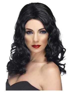 Black glamourous wig
