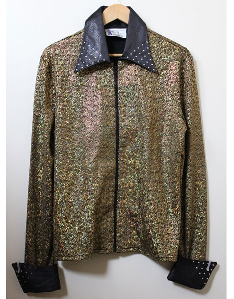 Shirt Gold Lurex with Rainbow Flecks