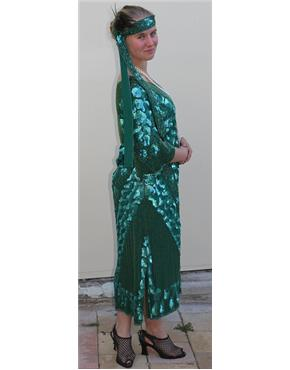1920's Green Sequined Dress