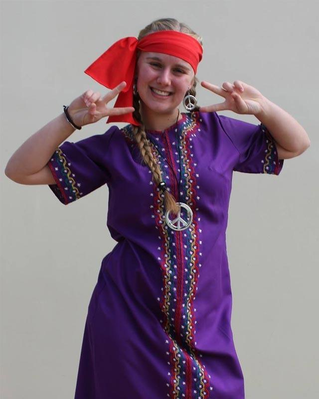 Hippie Purple Kaftan