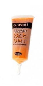 Orange Face & Body Paint