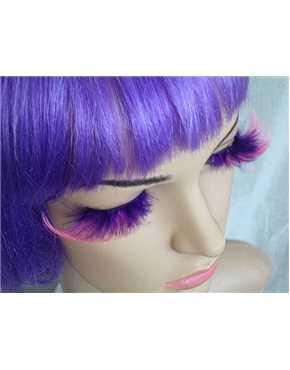 Eyelashes Purple and Pink Feathery
