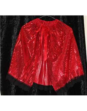 red sequined cape