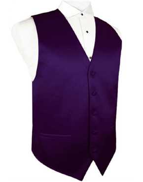 Vest Purple Satin