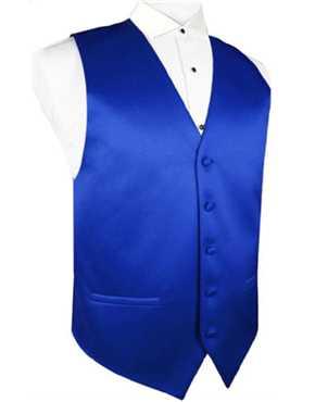 Vest Royal Blue Satin