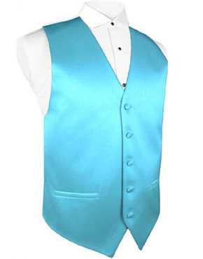 Vest Turquoise Satin