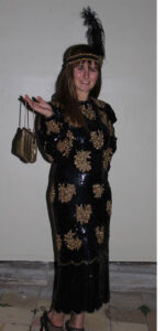 1920's Black & Gold Sequined Dress Set
