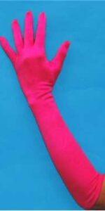 Gloves Hot Pink Satin Lycra