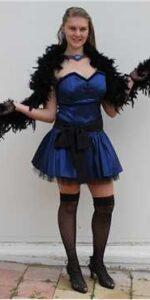 Burlesque Blue Taffeta