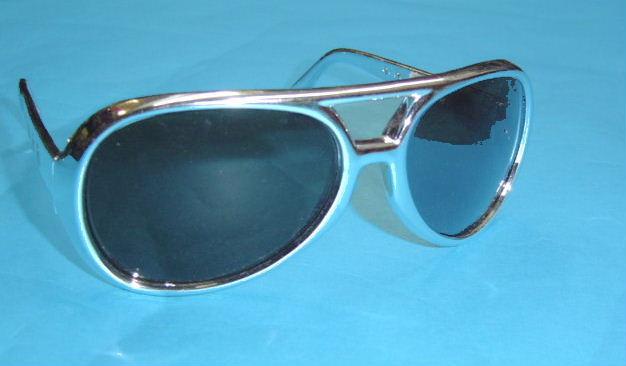 Elvis Glasses Silver Frame