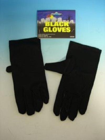short black lycra gloves