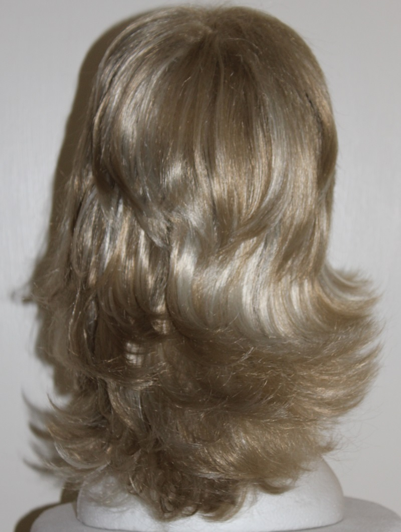 long blonde flick wig back