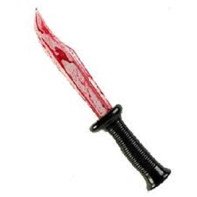 knife with bloody blade