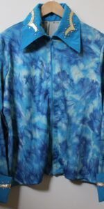 shirt blue mix stretch