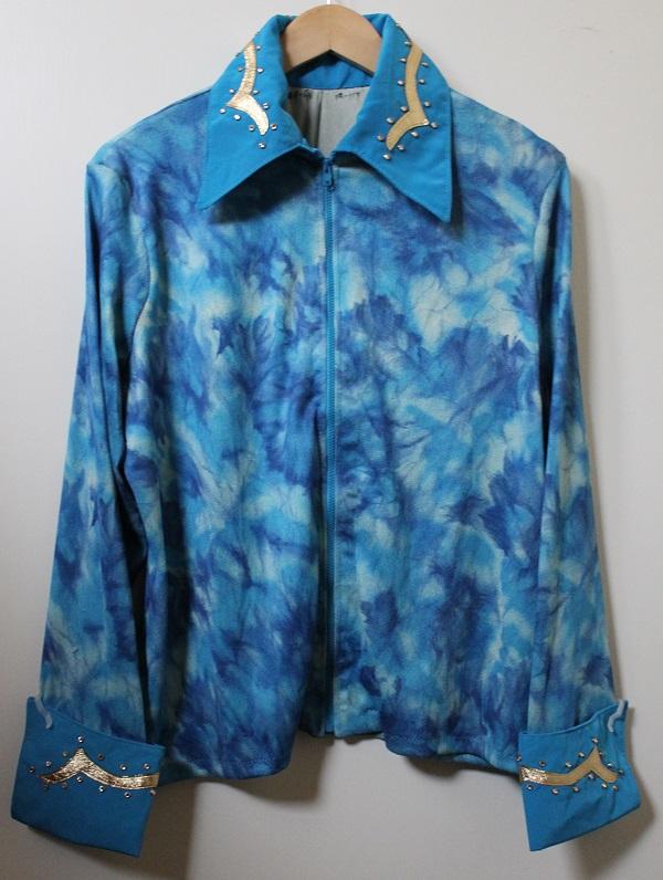 shirt blue mix stretch