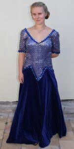 1980 blue velvet dress