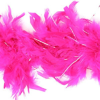boa hot pink silver threads