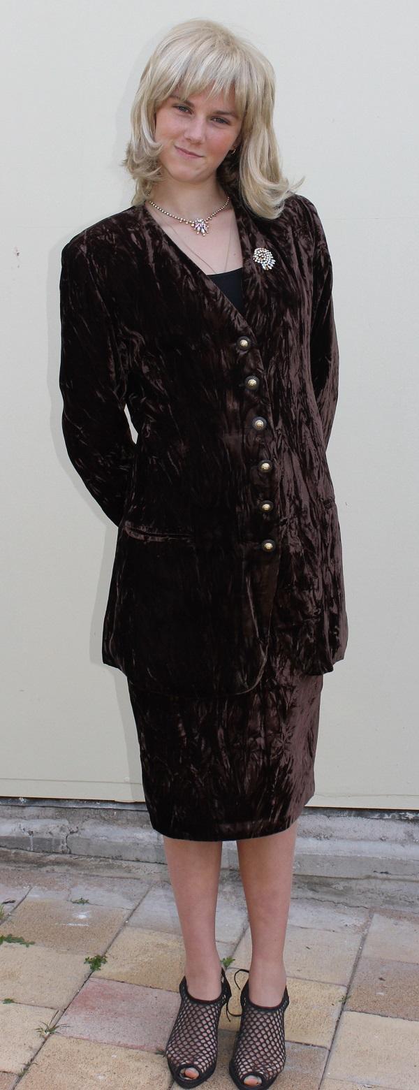 1980 brown velvet suit
