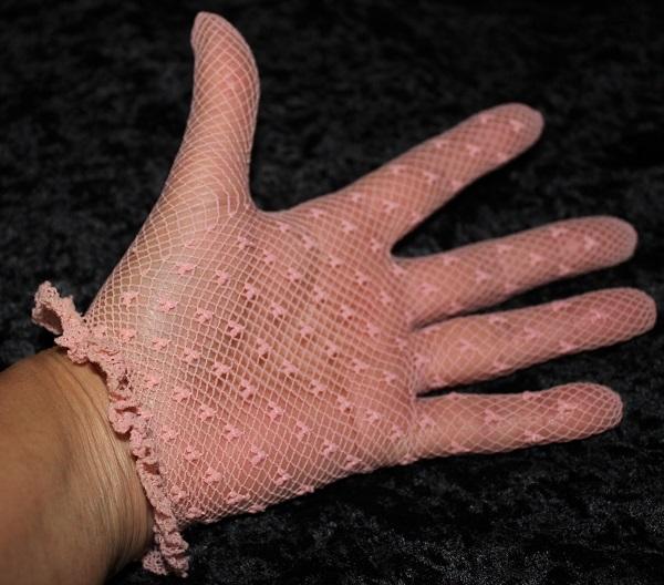 glove dusty pink kids