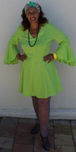 1970 green fluro dress