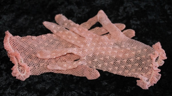 gloves dusty pink kids
