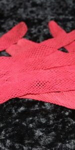 gloves red net kids