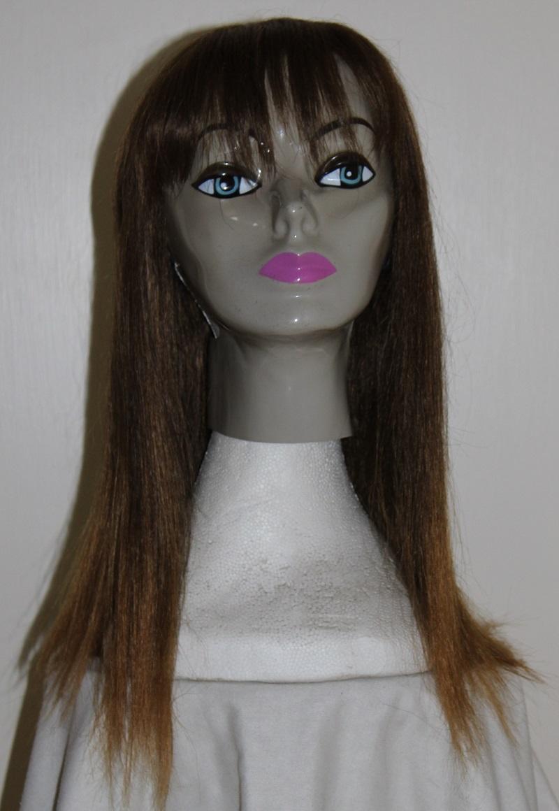 long brown fringe wig