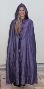 cape 3 purple shot silk