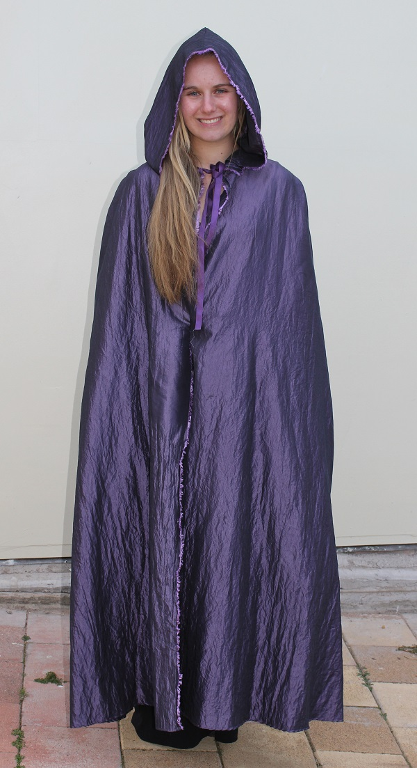 cape 3 purple shot silk