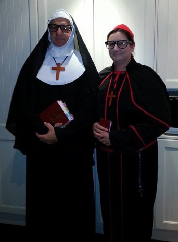 crdinal and nun