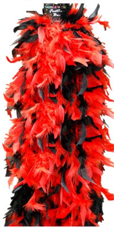 boa red black plush