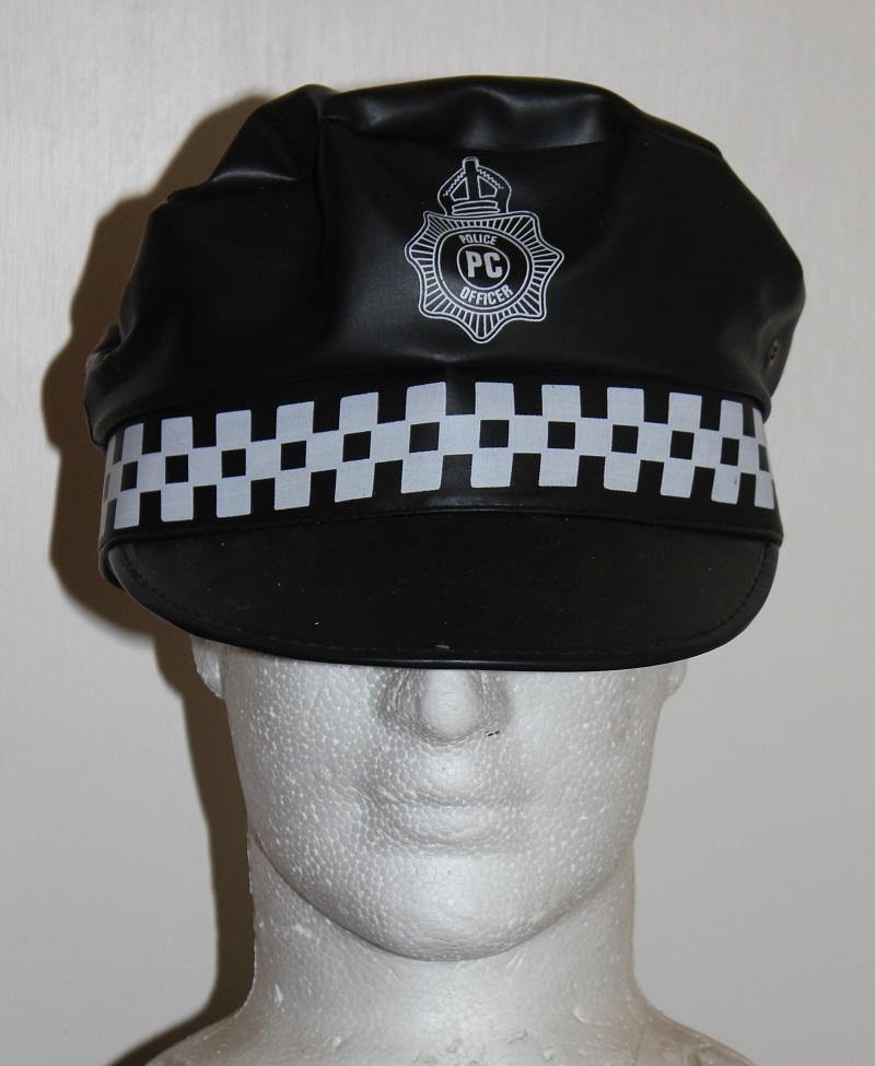 vinyl police cap