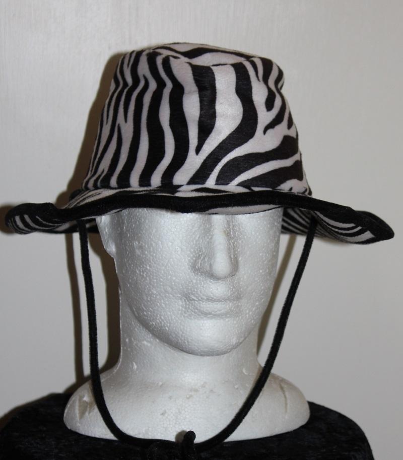 safari hat zebra pattern
